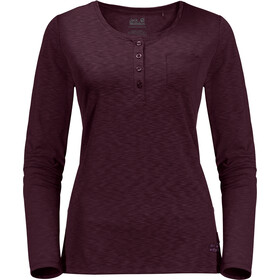 Jack Wolfskin Winter Travel T-shirt à col tunisien Femme, burgundy